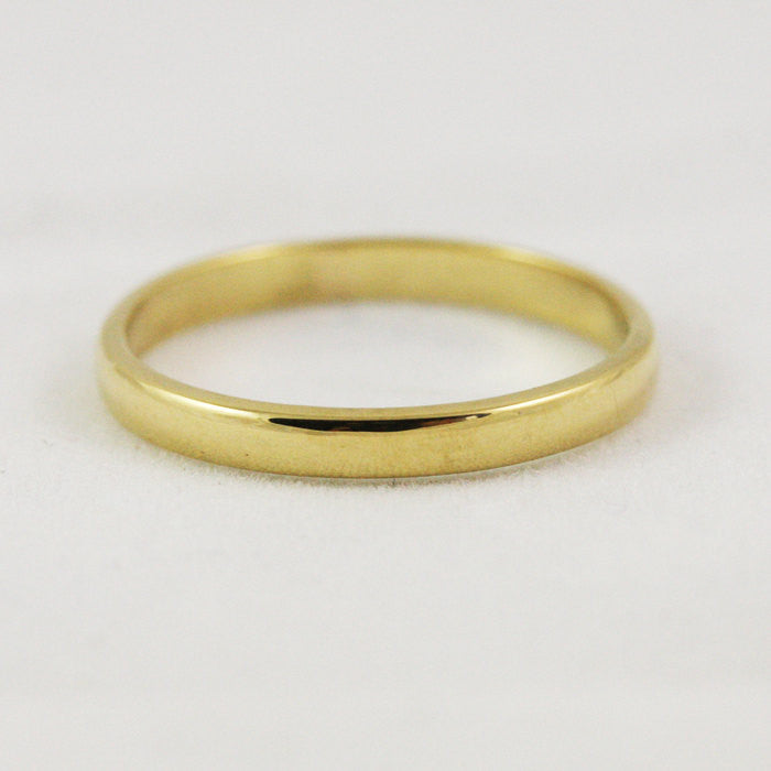 2.5mm Traditional Wedding Band - 14k Gold