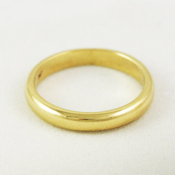 3mm Heavy Traditional Wedding Band - 18k Gold