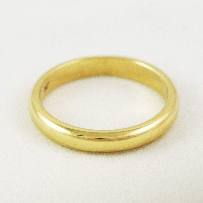 3mm Heavy Traditional Wedding Band - 22k Gold