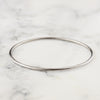 2mm White Gold Bangle Bracelet - 14k or 18k