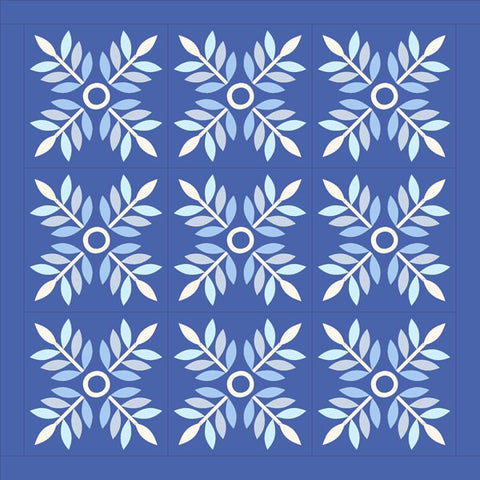 "Winter Laurel Applique' pattern - Giant 16"" blocks, wholesale"