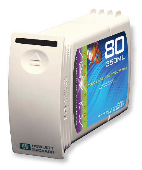 HP 80 Black Ink Cartridge (C4871A) 350ml