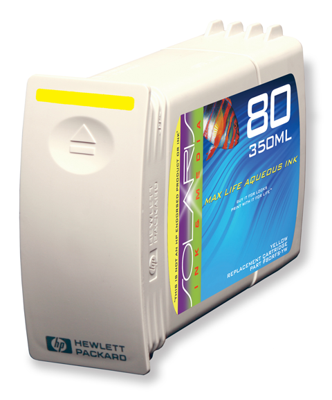HP 80 Yellow Ink Cartridge (C4848A) 350ml