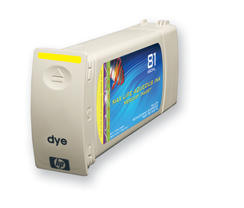 HP 81 Yellow Ink Cartridge (C4933A) 680ml