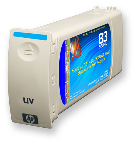 HP 83 Cyan UV Ink Cartridge (C4941A) 680ml