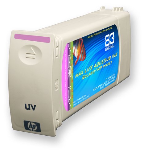 HP 83 Light Magenta UV Ink Cartridge (C4945A) 680ml