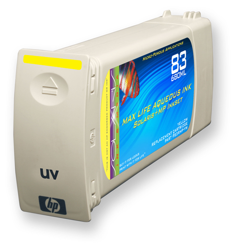 HP 83 Yellow UV Ink Cartridge (C4943A) 680ml