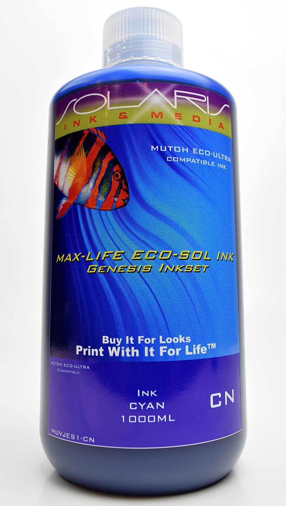 Mutoh Eco-Ultra Ink Cyan 1 Liter