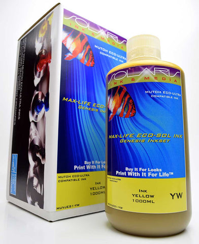 Mutoh Eco-Ultra Ink Yellow 1 Liter