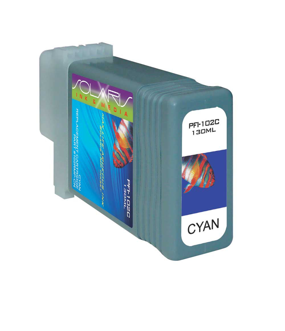 Canon PFI-102C Cyan Ink Cartridge 0896B001