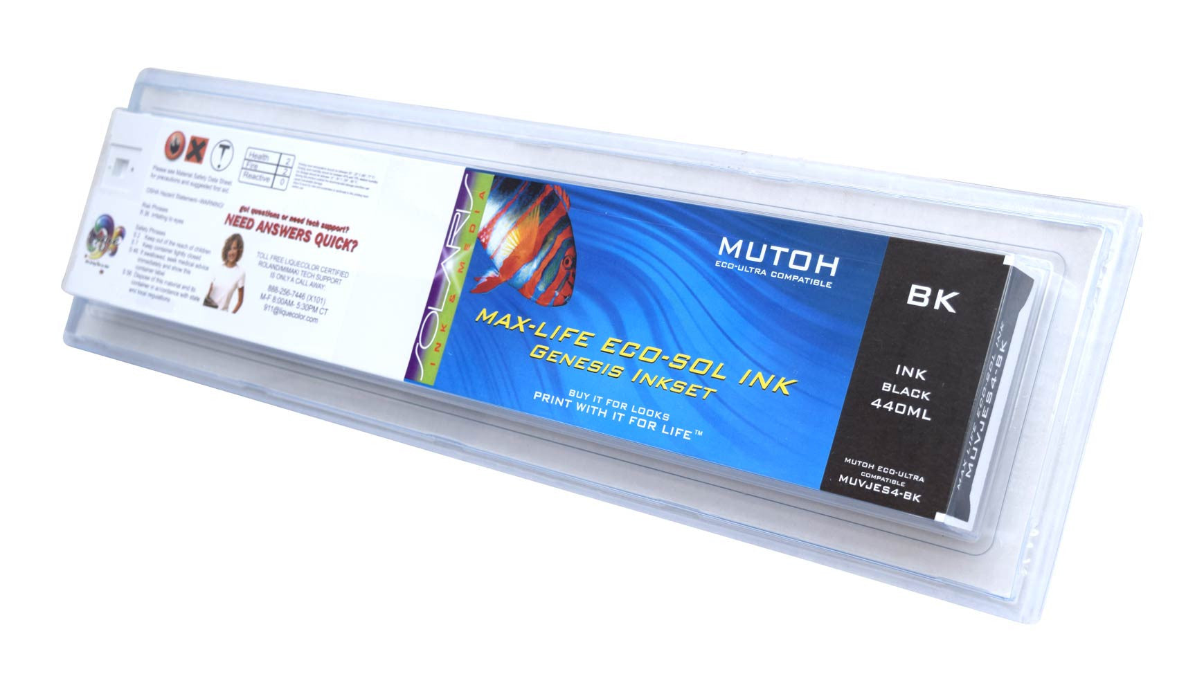 Mutoh Eco-Ultra 440ML Black Cartridge