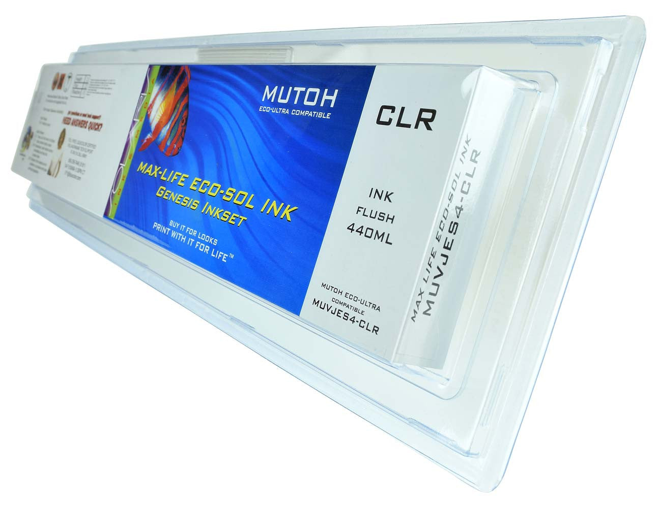 Mutoh Eco-Ultra 440ML Clear Flush Cartridge
