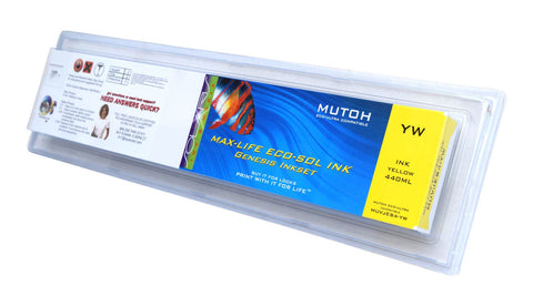 Mutoh Eco-Ultra 440ML Yellow Cartridge