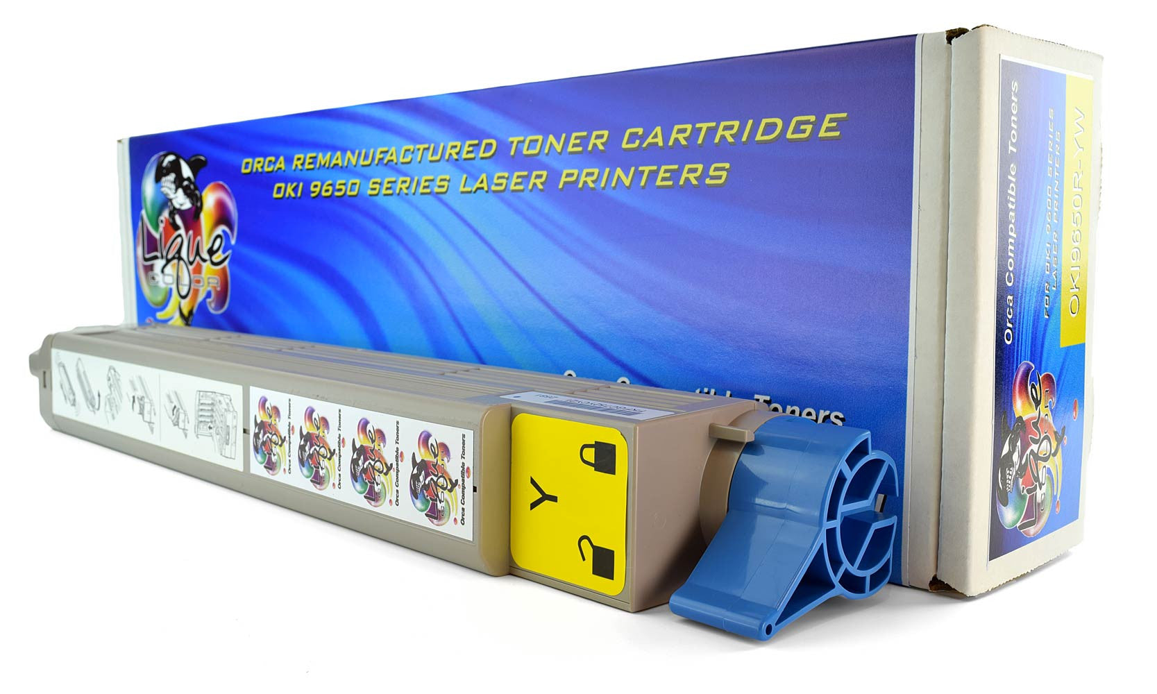 OKI 9650 Toner 42918981 Type C7 Yellow Cartridge (22000 Page Yield)