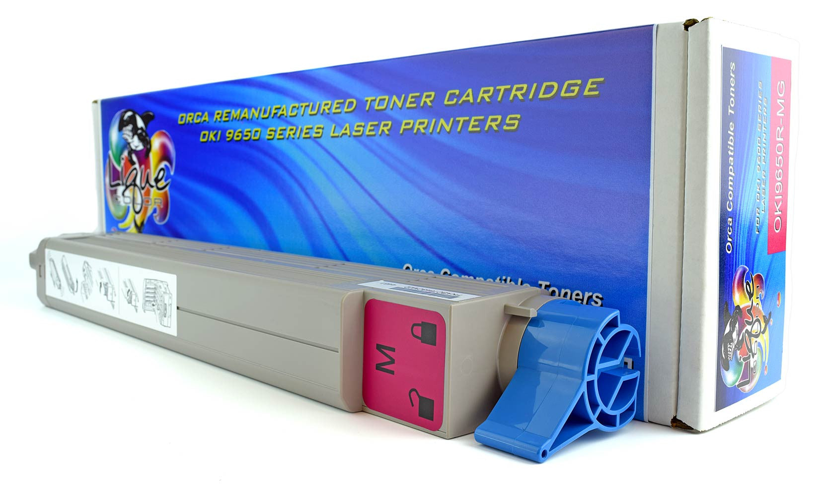 OKI 9650 Toner 42918982 Type C7 Magenta Cartridge (22000 Page Yield)