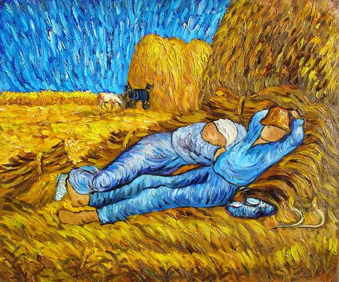 Afternoon Siesta -Vincent van Gogh Reproduction - Oil on Canvas Hand ...