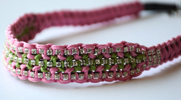 Brooke Pink and Apple Green Headband