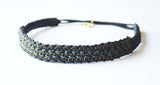 Brooke Black and Slate Gray Headband