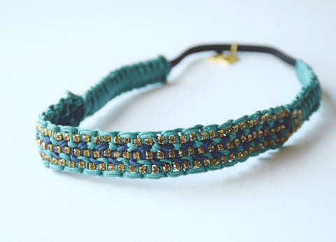 Brooke Deep Sea and Navy Headband