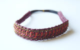 Brooke Maroon and Coral Headband