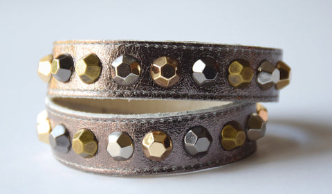 Colette Bronze Leather Bracelet