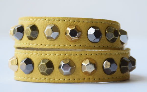 Colette Lemon Leather Bracelet