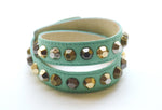 Colette Mint Leather Bracelet - Rose Gonzales