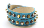 Colette Turquoise Leather Bracelet - Rose Gonzales