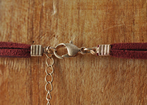 Savannah Crimson Choker/Necklace - Rose Gonzales