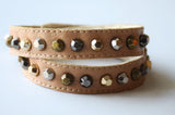 Nadine Tan Leather Bracelet