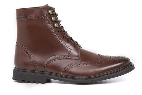 Men's Wingtip Boot Cognac
