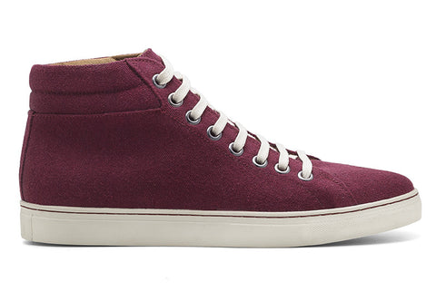 Men's High-Top Sneaker Burgundy