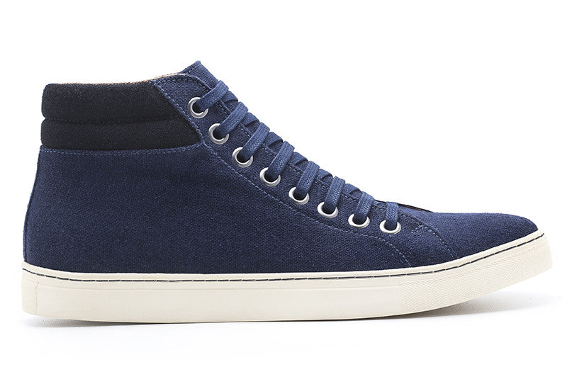 Men's High-Top Sneaker Navy