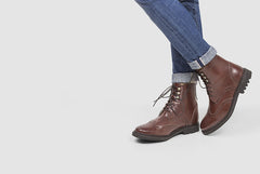 Women's Wingtip Boot Cognac