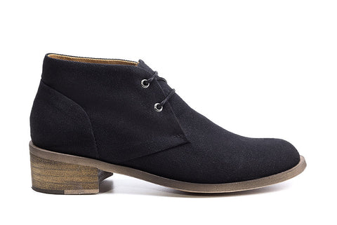 Heeled Desert Black