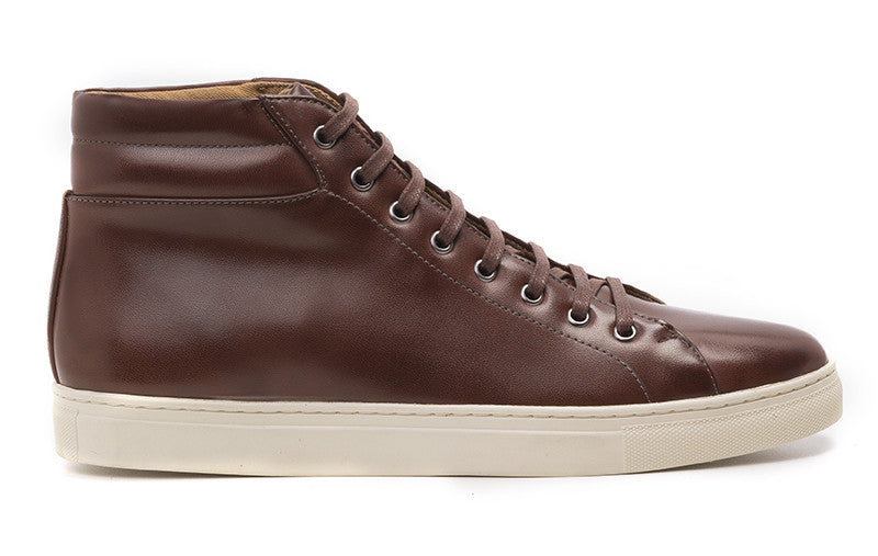 Women's High-Top Sneaker Cognac