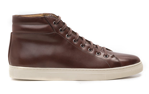Men's High-Top Sneaker Cognac