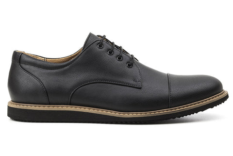 Men's William Oxford Black - Vegan Leather