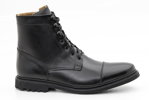 Women's Work Boot Black - Vegan Leather