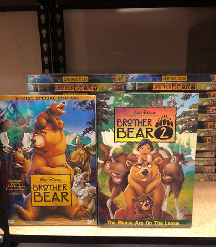 Brother Bear DVD Movies 1&2 Includes Both Movies
