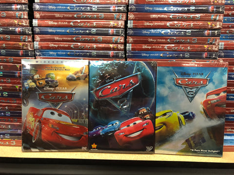 Cars DVD Trilogy Includes All 3 Movies