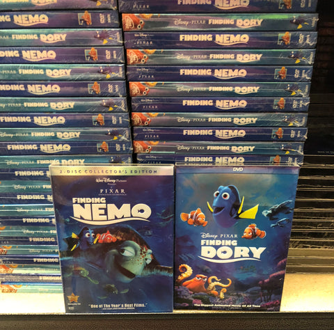 Finding Nemo & Finding Dory DVD Series 2 Movie Set