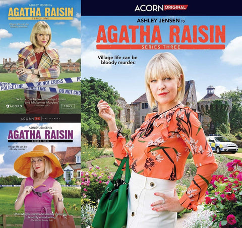 Agatha Raisin 1-3 DVD Set Acorn Media DVDs & Blu-ray Discs