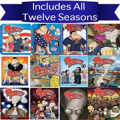American Dad DVD Series Seasons 1-12 Set 20th Century Fox DVDs & Blu-ray Discs > DVDs