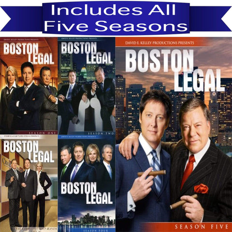 Boston Legal Complete Series DVD 20th Century Fox DVDs & Blu-ray Discs