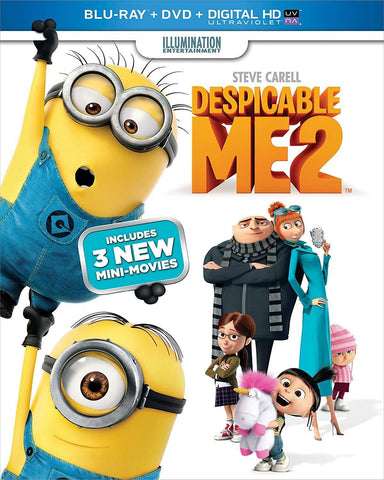 Despicable Me 2 on Blu-Ray Blaze DVDs