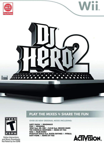 DJ Hero 2 for Nintendo Wii Nintendo Nintendo Wii Game