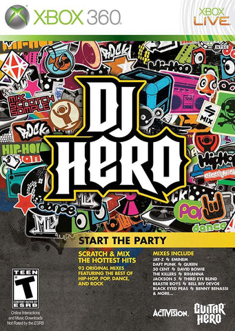 DJ Hero Stand Alone Software -Xbox 360 Blaze DVDs