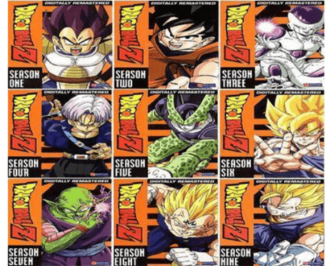 Dragon Ball Z TV Series Seasons 1-9 DVD Set studio 1 DVDs & Blu-ray Discs > DVDs