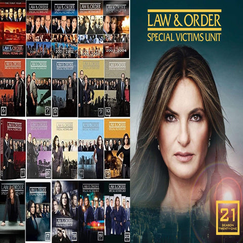 Law & Order SVU Special Victims Unit Seasons 1-21 On DVD Universal Studios DVDs & Blu-ray Discs